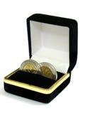 Hochzeits-Münzen Stockfoto