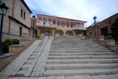 Hochzeits-Mitte in Signagi Stockbild