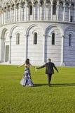 Hochzeits-Momente, Italien stockbilder