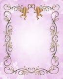 Hochzeits-oder Party-Einladung mit Blumen Stockbild