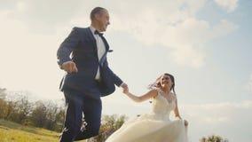 Hochzeits-Paar-Betrieb stock video