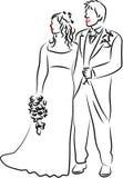 Hochzeits-Paare vektor abbildung