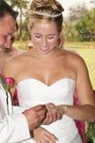 Hochzeits-Paare: Ich tue! Lizenzfreies Stockbild