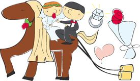 Hochzeits-Pony stock abbildung