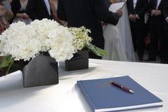Hochzeits-Register Stockfotografie