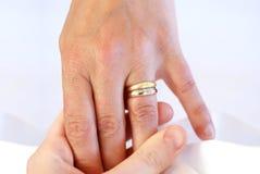 Hochzeits-Ring Stockbild