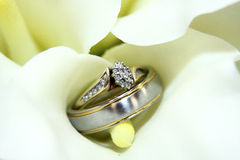 Hochzeits-Ring-Blumen-Lilie lizenzfreie stockfotos