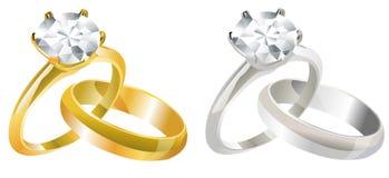 Hochzeits-Ringe vektor abbildung
