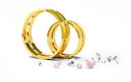 Hochzeits-Ringe Lizenzfreie Stockfotos