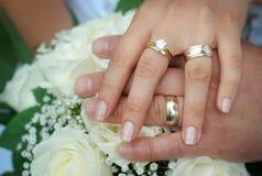 Hochzeits-Ringe Stockbild
