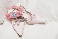 Hochzeits-Schuhe Stockfotografie