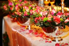 Hochzeits-Tabelle Stockbild