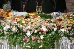 Hochzeits-Tabelle Stockfotografie