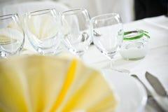Hochzeits-Tabellen-Anordnung Stockbilder