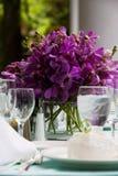 Hochzeits-Tabellen-Dekoration Lizenzfreies Stockbild