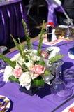 Hochzeits-Tabellen-Detail Stockbilder