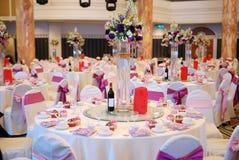 Hochzeits-Tabellen-Detail Stockfotos
