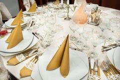 Hochzeits-Tabellen-Detail Lizenzfreie Stockfotografie