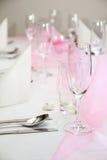Hochzeits-Tabellen-Einstellung Lizenzfreies Stockbild