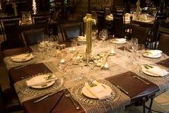 Hochzeits-Tabellen-Einstellung Lizenzfreies Stockfoto