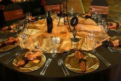Hochzeits-Tabellen-Einstellung Lizenzfreie Stockfotos