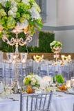 Hochzeits-Tabellen-Vorbereitungen Lizenzfreies Stockfoto