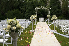 Hochzeits-Teppich Stockfotos