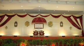 Hochzeits- und Aufnahmestufe Stockbild