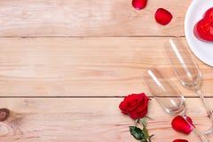 Hochzeits-, Valentinsgrußtag, Geburtstags- oder Feierhintergrund mit Lizenzfreie Stockbilder