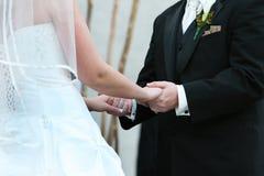 Hochzeits-Versprechen Stockfoto