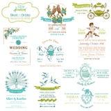 Hochzeits-Weinlese-Einladungs-Sammlung Stockbild