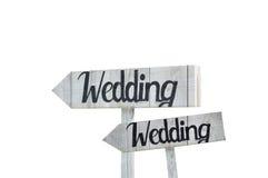 Hochzeits-Zeichen Stockfotografie