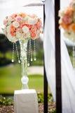 Hochzeits-Zeremonie Topiary-Dekor stockfoto