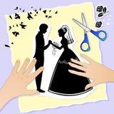 Hochzeitsabbildung Stockbilder