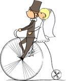 Hochzeitsabbildung, Braut und Bräutigam, Vektor Lizenzfreie Stockfotos
