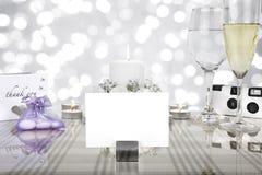 Hochzeitsabendessengedeck lizenzfreie stockbilder