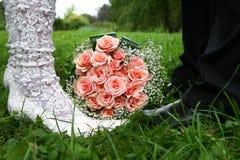 Hochzeitsaufbau Stockfotografie