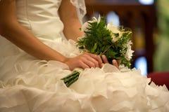 Hochzeitsaufbau stockbilder