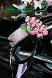 Hochzeitsautodekoration Lizenzfreie Stockfotografie