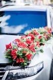 Hochzeitsautodekoration Lizenzfreies Stockbild