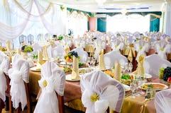 Hochzeitsbankettraum Stockbild