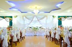 Hochzeitsbankettraum Stockfoto
