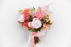 Hochzeitsblumen, Brautblumenstraußnahaufnahme lizenzfreies stockbild