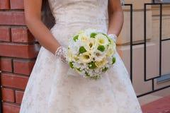 Hochzeitsblumenblumenstrauß Lizenzfreies Stockfoto