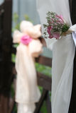Hochzeitsblumendekoration Stockfotografie