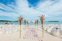 Hochzeitsblumeneinstellung Stockfotografie