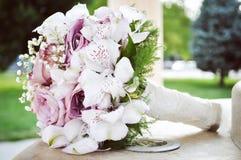 Hochzeitsblumenstrauß, Abschluss oben Lizenzfreie Stockbilder
