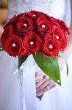 Hochzeitsblumenstrauß, Abschluss oben Stockfotos