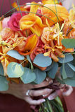 Hochzeitsblumenstrauß der Blumen Stockbild