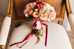 Hochzeitsblumenstrauß der Blumen Lizenzfreie Stockfotos